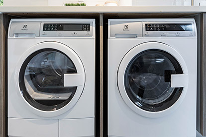 Electrolux in-unit<br /> washer and dryer